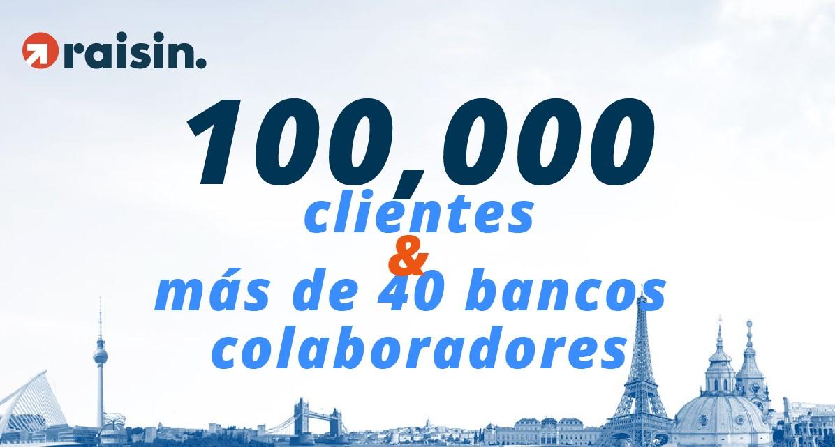Raisin llega a 100.000 clientes y más de 40 bancos colaboradores